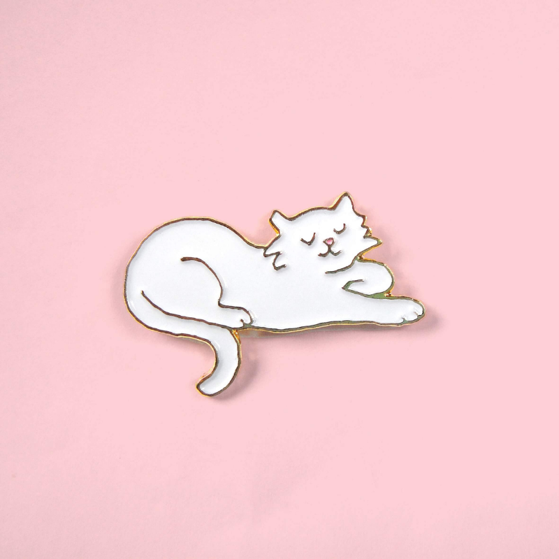 "Pin's Coucou Suzette Chat blanc ""Pacha"""