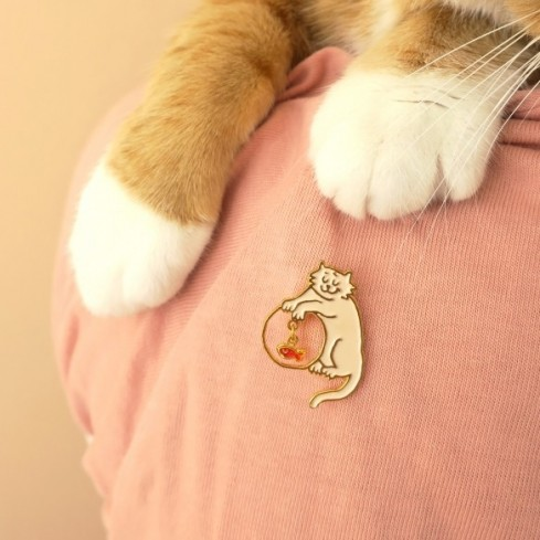 """Pin's Coucou Suzette Chat """"Coquin"""""""