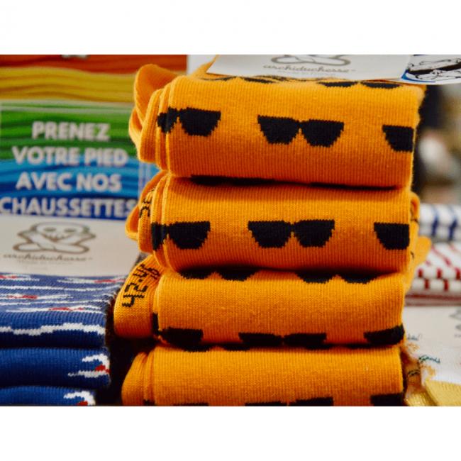 Chaussettes hautes colorées unisexe By LMS x Archiduchesse Summer