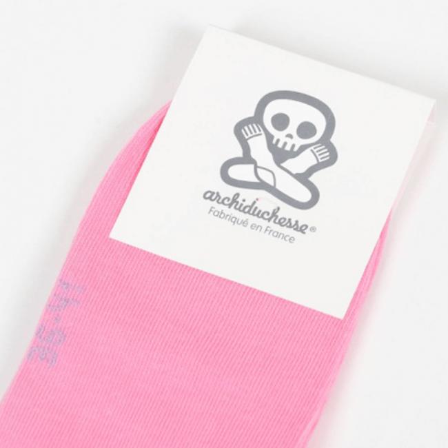 """Chaussettes socquettes courtes colorées unisexe Archiduchesse """"Rose Panthère"""""""