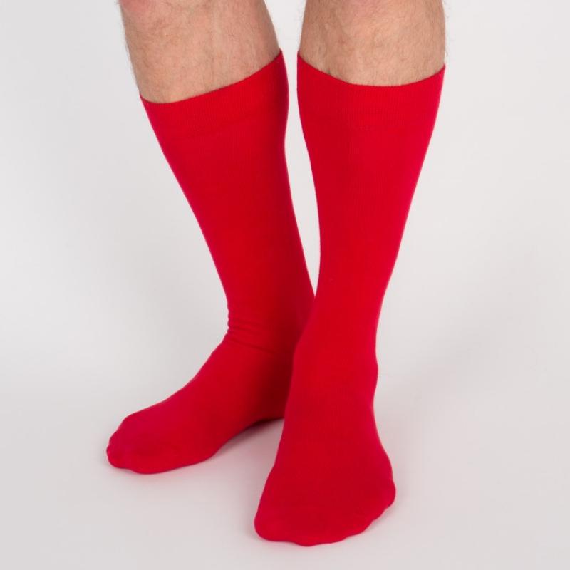 Chaussettes hautes rouges unisexe Archiduchesse De Ville Rouge Cardinal