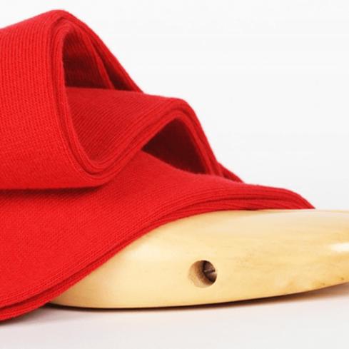 Chaussettes hautes rouge unisexe Archiduchesse De Ville Rouge Cardinal