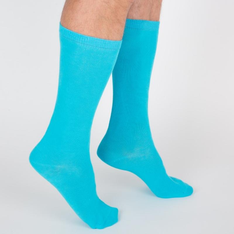 Chaussettes hautes colorées unisexe Archiduchesse De Ville Bleu Turquoise