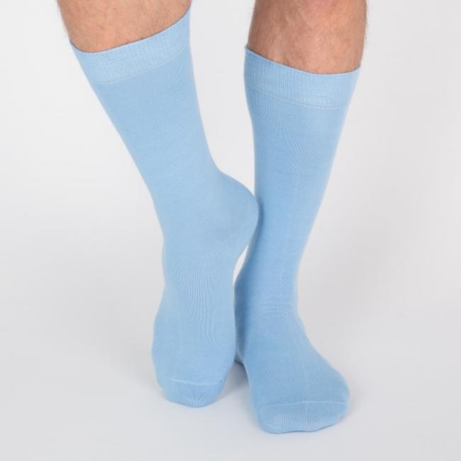 Chaussettes hautes colorées unisexe Archiduchesse De Ville Bleu Ligne 13