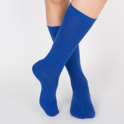 Chaussettes hautes colorées unisexe Archiduchesse De Ville Bleu Monochrome