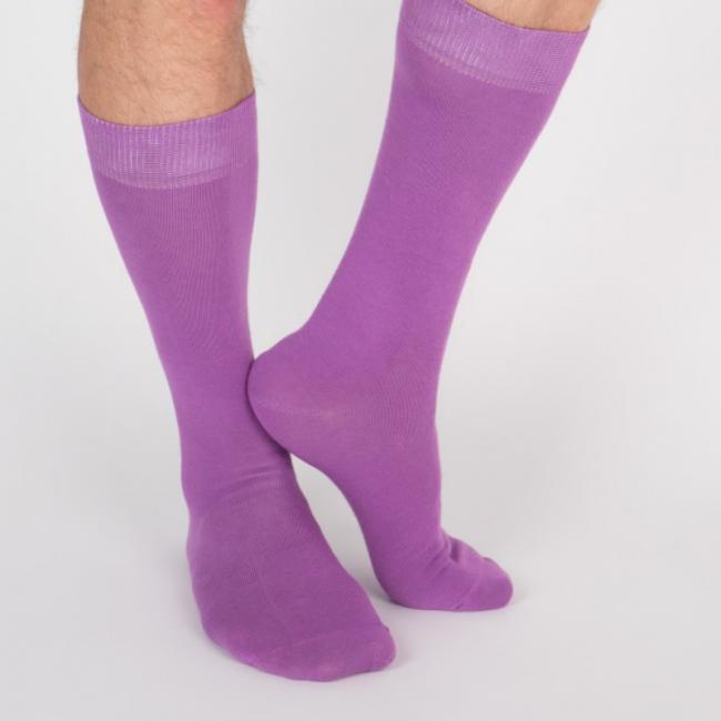 Chaussettes hautes violettes unisexe Archiduchesse De Ville Ultra Violet