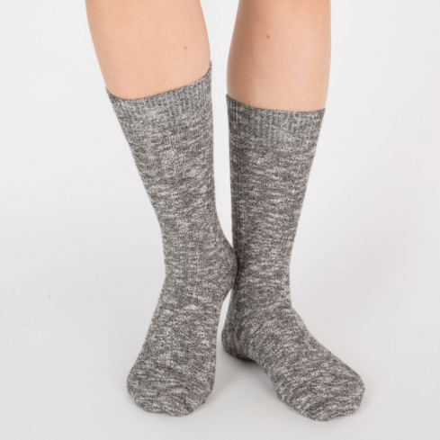 Chaussettes chaude et épaisse unisexe Archiduchesse d'hiver noir