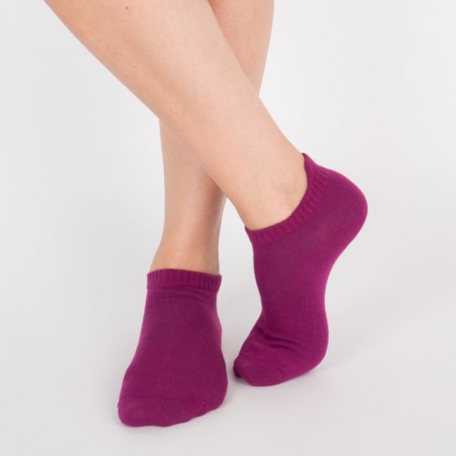 """Chaussettes socquettes courtes colorées unisexe Archiduchesse """"Aubergine"""""""