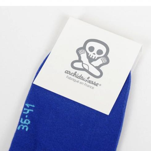 """Chaussettes socquettes courtes colorées unisexe Archiduchesse """"Bleu Monochrome"""""""