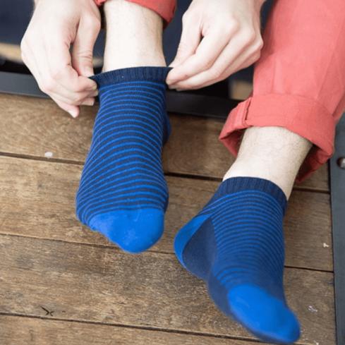 """Chaussettes socquettes courtes colorées unisexe Archiduchesse """"Embruns"""""""