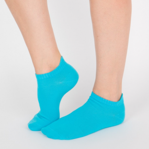 """Chaussettes socquettes courtes colorées unisexe Archiduchesse """"Bleu Turquoise"""""""