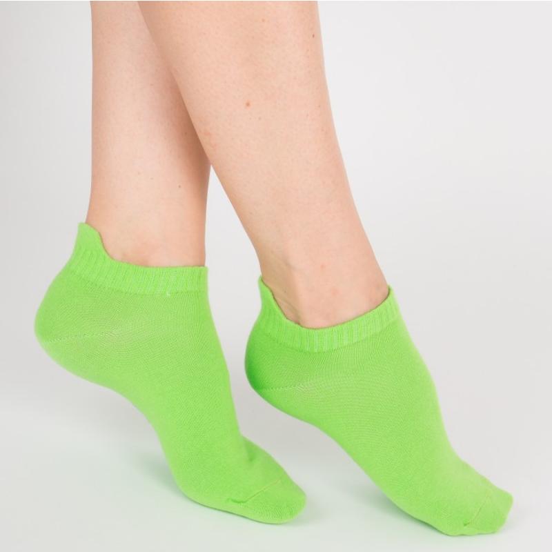 """Chaussettes socquettes courtes colorées unisexe Archiduchesse """"Vert Pomme"""""""