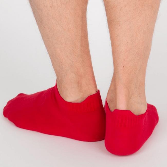 """Chaussettes socquettes courtes colorées unisexe Archiduchesse """"Rouge Cardinal"""""""