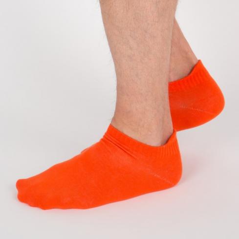 """Chaussettes socquettes courtes colorées unisexe Archiduchesse """"Orange Citrouille"""""""
