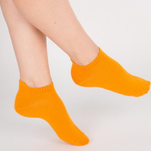 """Chaussettes socquettes courtes colorées unisexe Archiduchesse """"Orange Mandarine"""""""