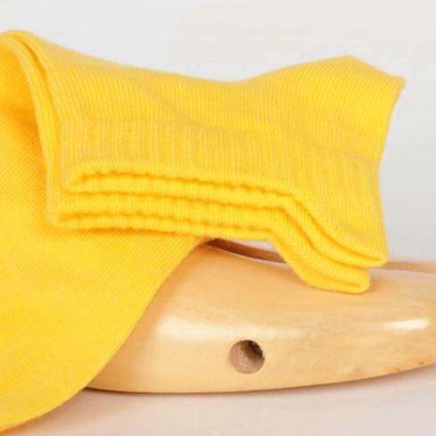 """Chaussettes socquettes courtes colorées unisexe Archiduchesse """"Jaune Canari"""""""