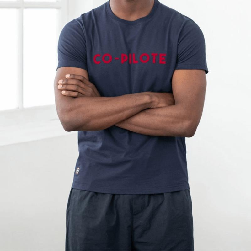 """tee shirt co pilote made in france """"Le JEAN F"""" par Le Slip Français"""