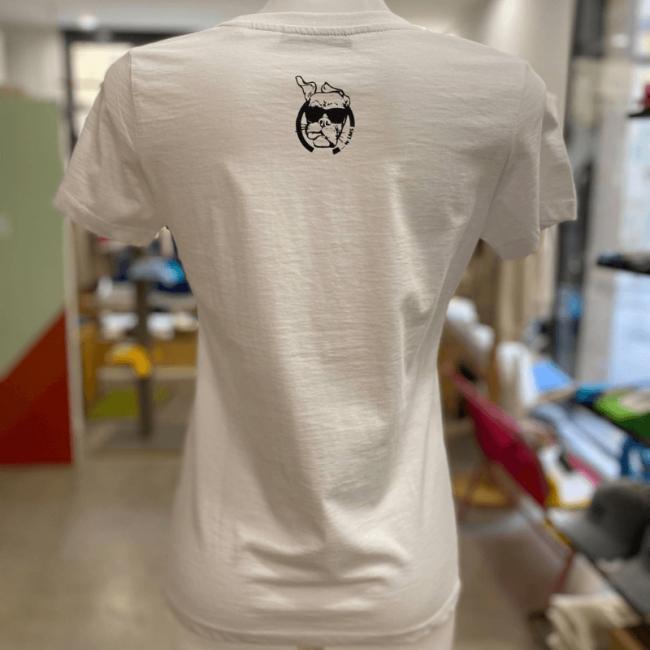 """Tee shirt femme blanc """"5 Monts Toulonnais"""" en coton bio By LMS Toulon"""