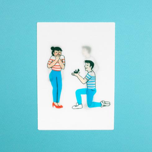 carte demande en mariage hologramme par Coucou Suzette