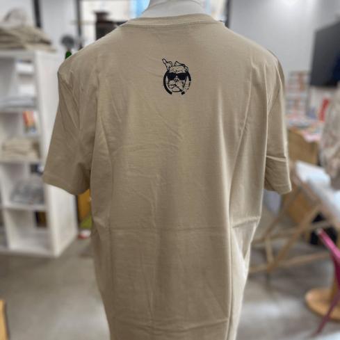 """Tee shirt Toulon unisexe sable """"5 Monts Toulonnais"""" en coton bio By LMS"""