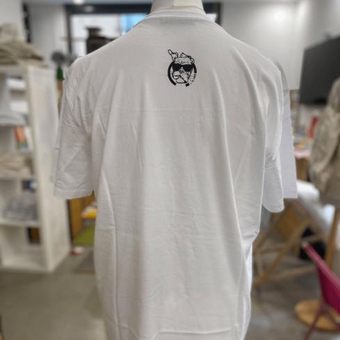 "Tee shirt Toulon unisexe blanc ""5 Monts Toulonnais"" en coton bio By LMS"