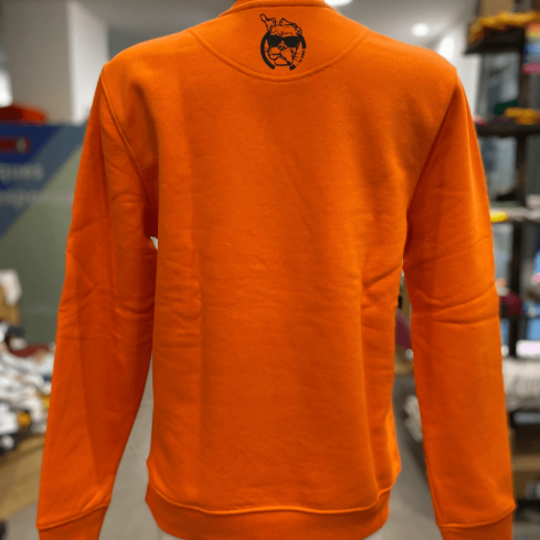 "sweat molletonné unisexe sportswear ""Hérisson Mignon"" orange en coton bio By LMS"