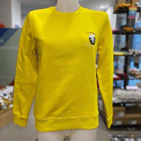 """sweat molletonné unisexe sportswear """"Hérisson Mignon"""" jaune en coton bio By LMS"""