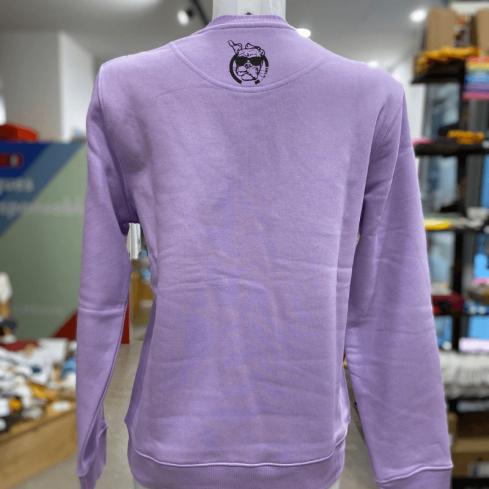 """sweat coton bio molletonné unisexe sportswear """"Panda Sympa"""" couleur lavande By LMS"""
