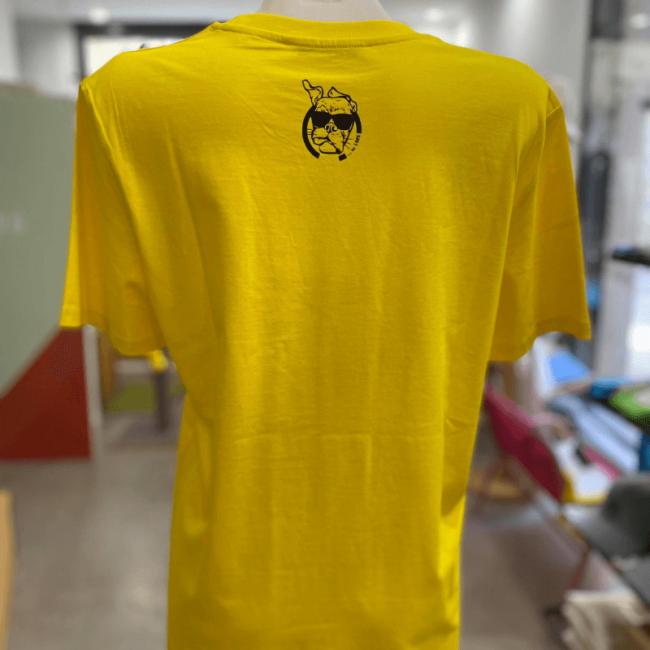 """t shirt hérisson unisexe sportswear """"hérisson mignon"""" jaune en coton bio By LMS"""