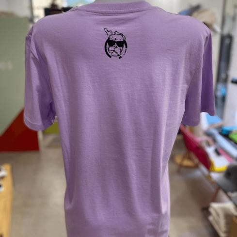 "tee shirt couleur lavande sportswear ""Panda Sympa"" Lavande en coton bio By LMS"