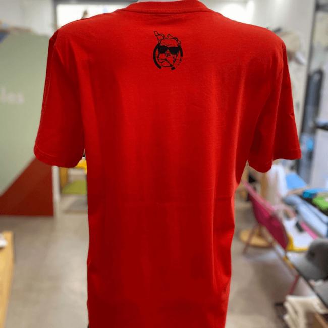 "tee shirt fabrication francaise unisexe sportswear ""Panda Sympa"" rouge By LMS"