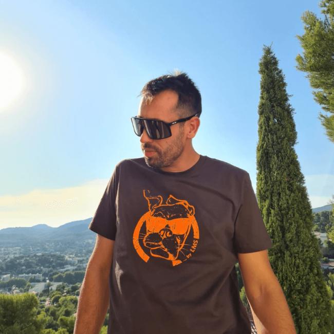 """Tee shirt coton biologique unisexe """"Chocorange"""" By LMS Toulon"""