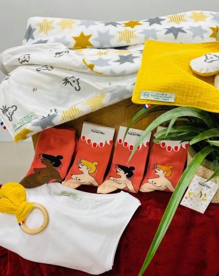 """Bobox de printemps """"Baby Shower"""" signée By LMS Store en coloris blanc"""