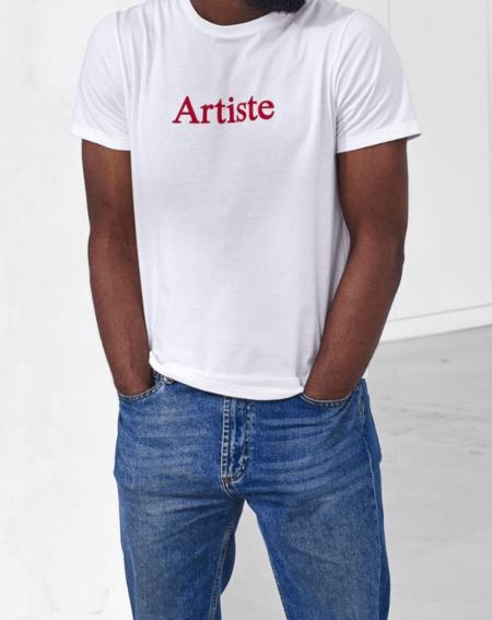 """tee shirt fabrication française  """"Le JEAN F """" artiste par Le Slip Français"""