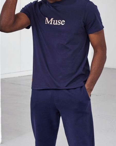 """tee shirt fabrication francaise """"Le JEAN F """" muse par Le Slip Français"""