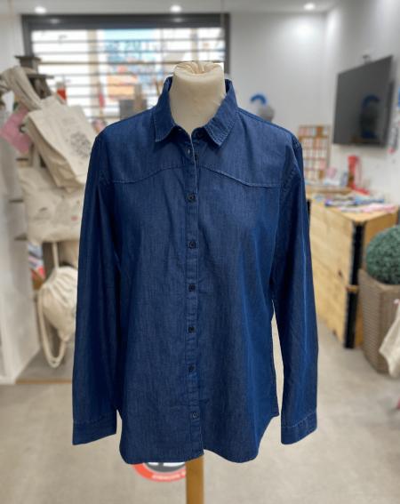 Chemise femme coupe ajustée denim By LMS