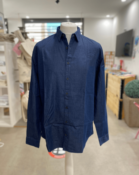 Chemise homme coupe ajustée coton bio denim par By LMS