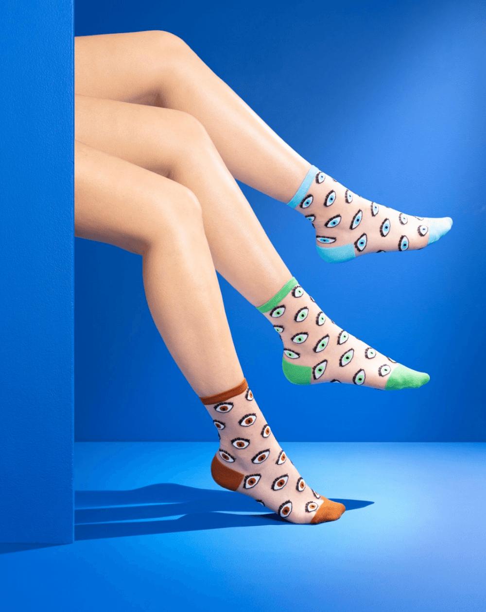 chaussettes transparentes mixte coucou suzette oeil