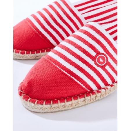 espadrilles rouges fabrication française par Le Slip Français