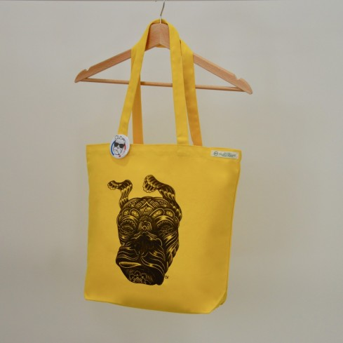 "Tote bag coton bio ""Guell tongue"""