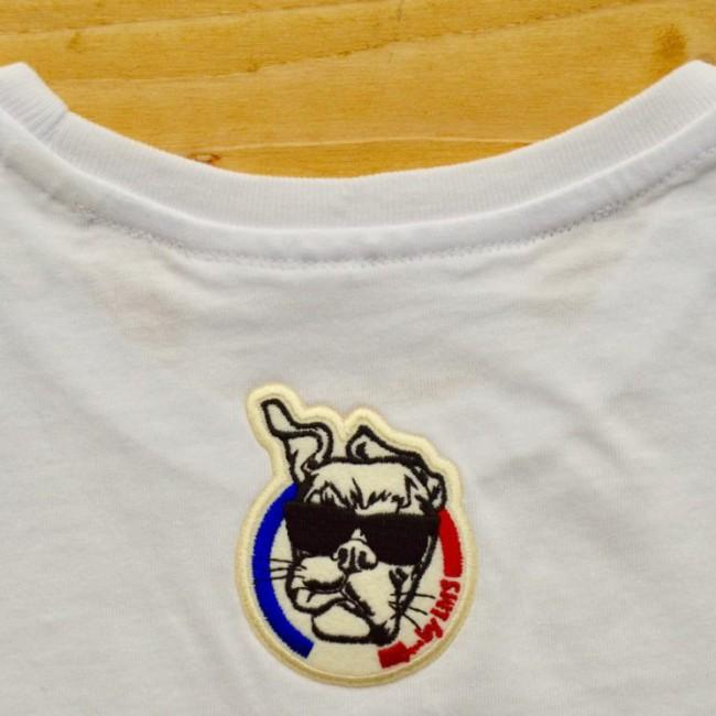 "Tee shirt enfant en coton bio ""Skull chou fuchsia"""