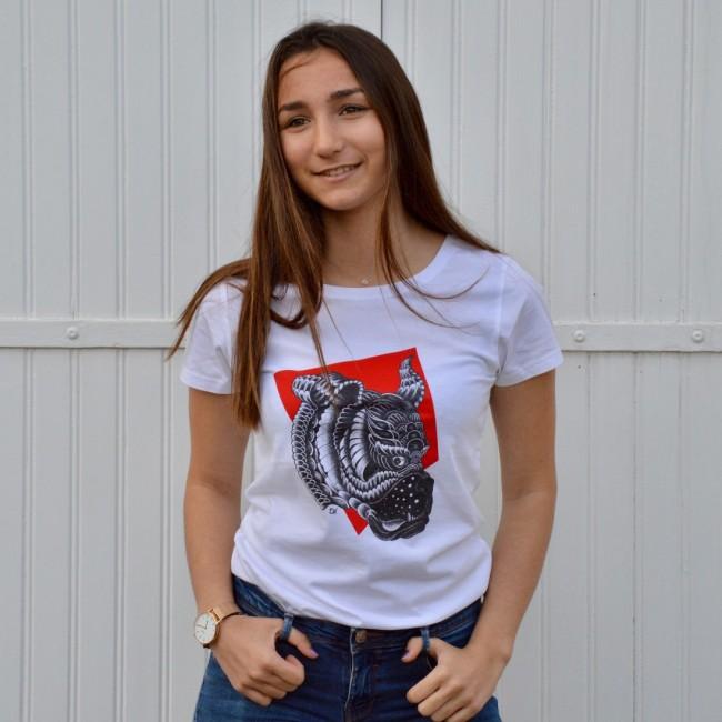 Tee shirt cintré femme Guell tooth rouge