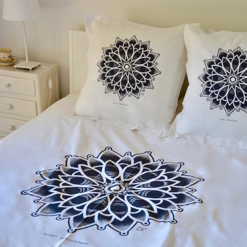 linge de lit bio : parure de lit originale en coton 100% naturelle