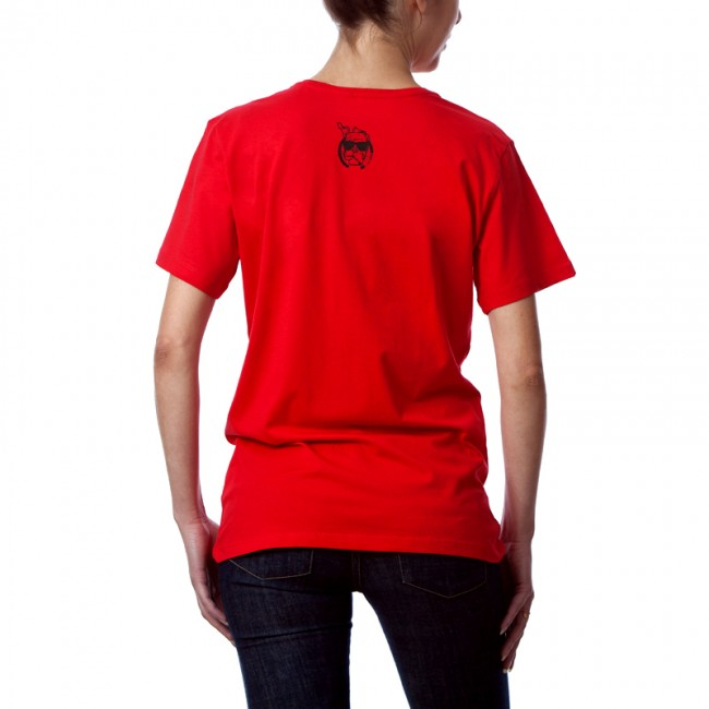"""T-shirt unisexe tendance  coton bio """" Wear for Change """" ...by LMS rouge"""
