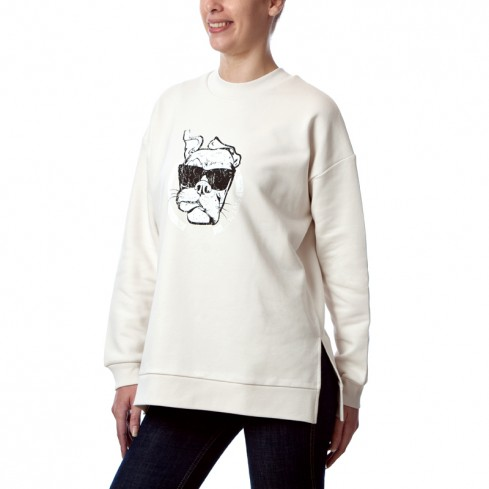 Sweat shirt old school Femme bio Guell vintage