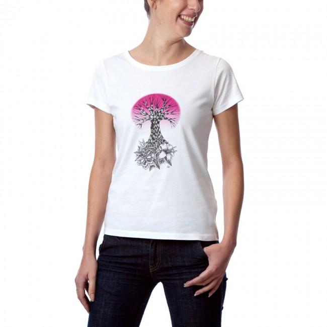 """Tee shirt coton bio femme """"Life Rose"""""""