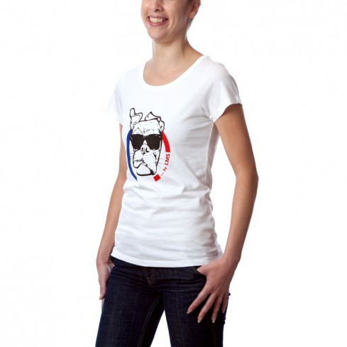 "T-shirt Femme basique glam coton bio BBR "" Guell "" ...by LMS blanc"