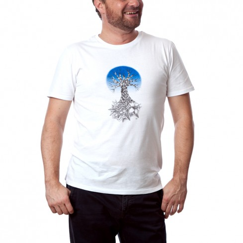T-shirt homme change Life bleu collection nature