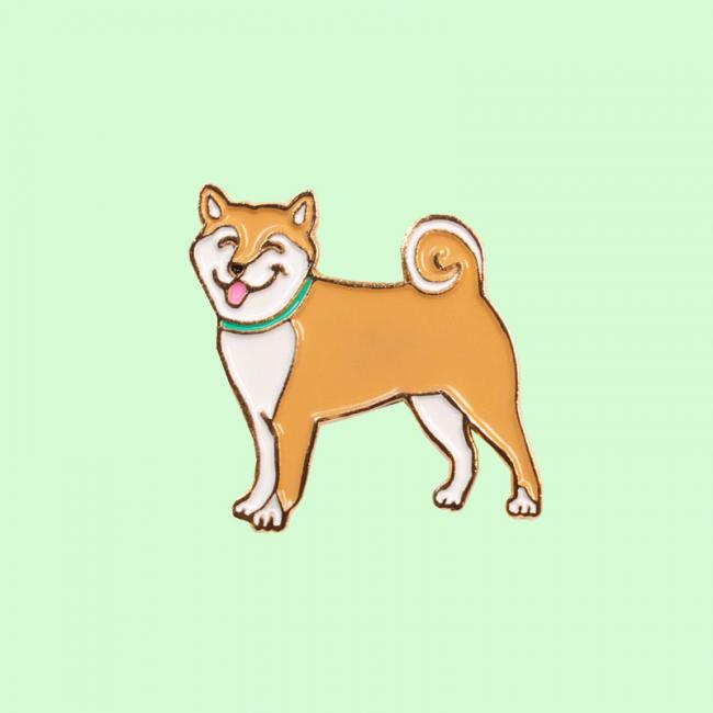 """Pin's Coucou Suzette modèle chien """"Shiba"""""""