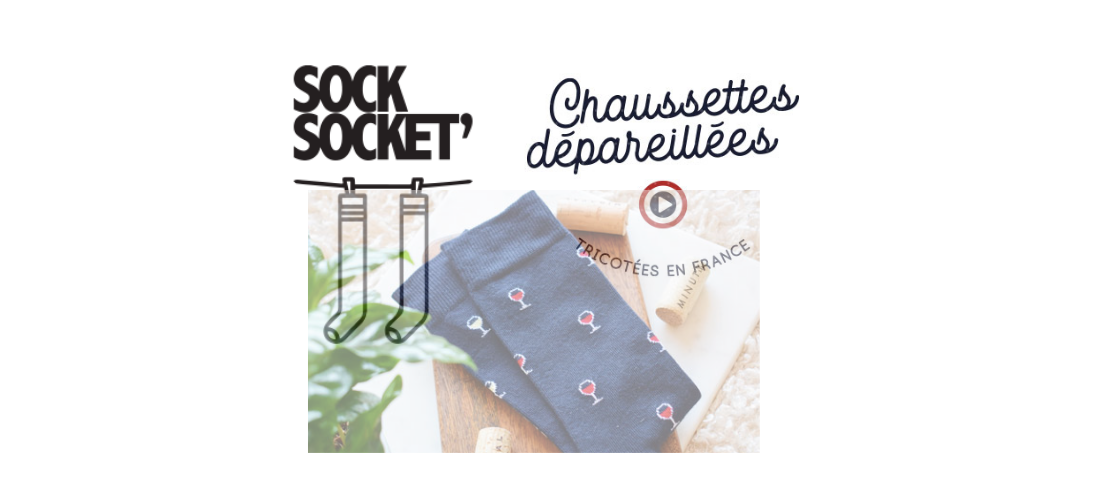 Sock Socket : des chaussettes dépareillées rigolotes